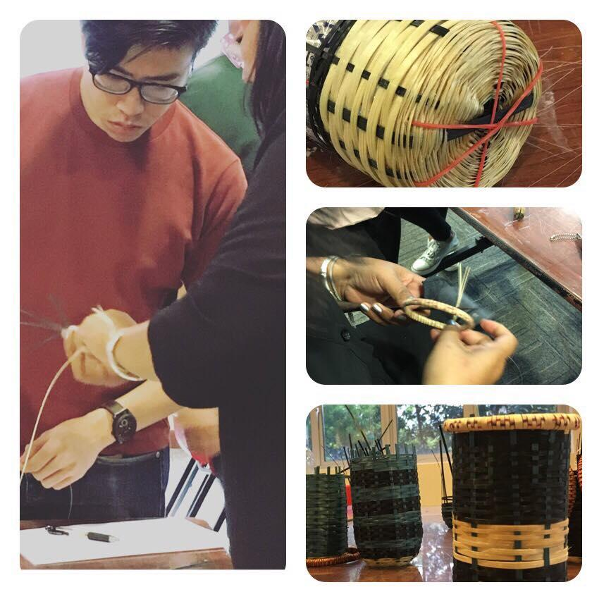 SoA+D's Bamboo Wickerwork Workshop conducted for NAFA students (Singapore)